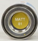 Humbrol 0081 Matt Pale Yellow